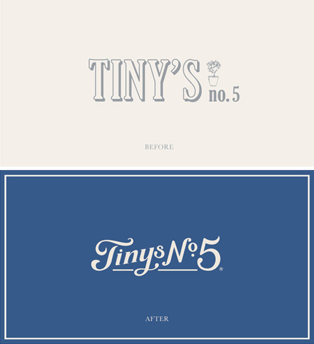 Tiny's No. 5 Before and After