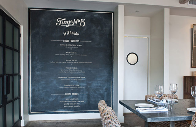 Tiny's No. 5 Wall Chalkboard Menu