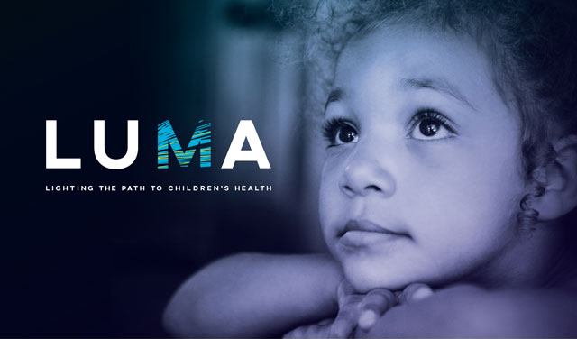 LUMA Benefit Concert Logo with Little Girl