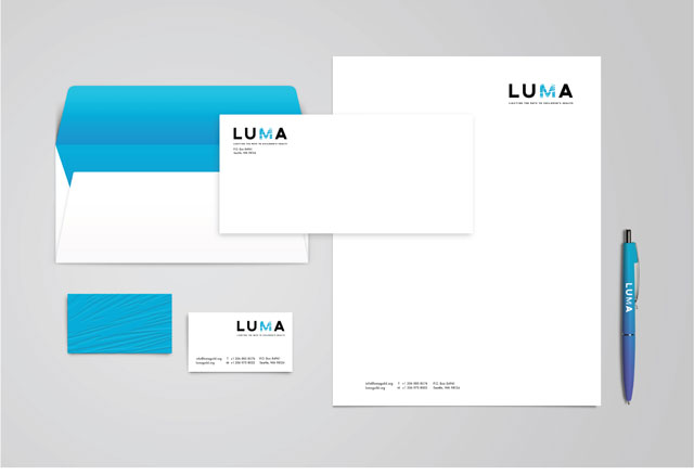 LUMA Business Cards, Letterhead and Envelopes