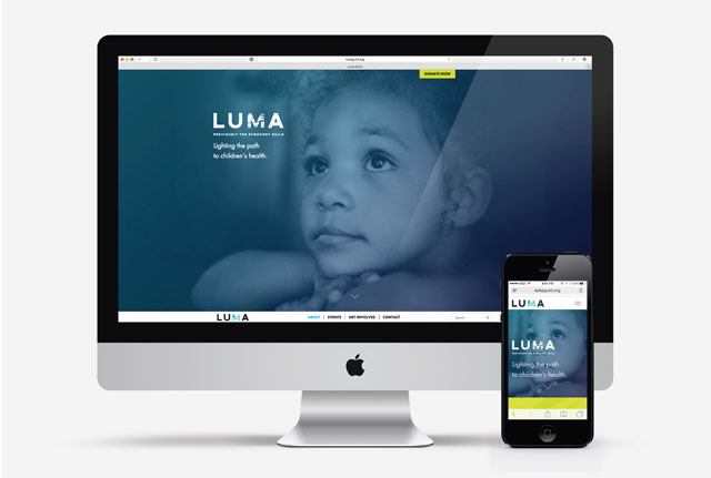 LUMA Benefit Concert Website Desktop and Mobile