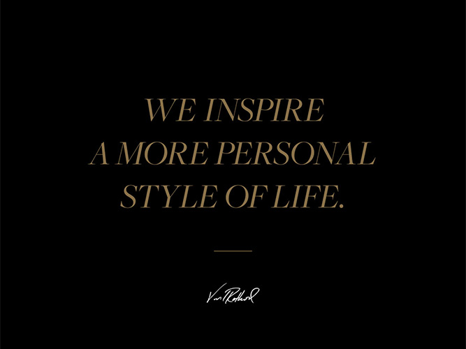 "JHStylist  Quote, ""We inspire a more personal style of life."""