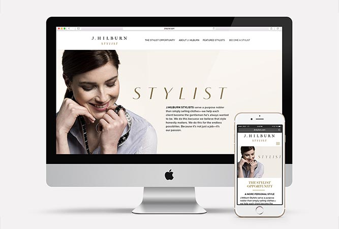 JHStylist  Website Desktop and Mobile