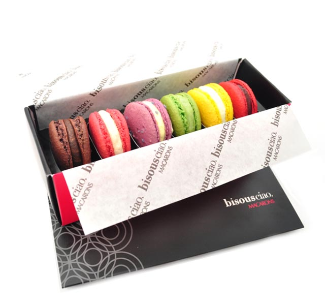 CRP Bisous Ciao Packaging and Macarons