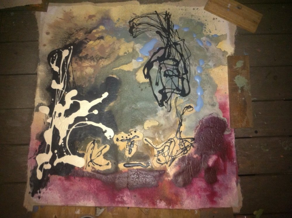 Jonathan Jackson Drip Painting