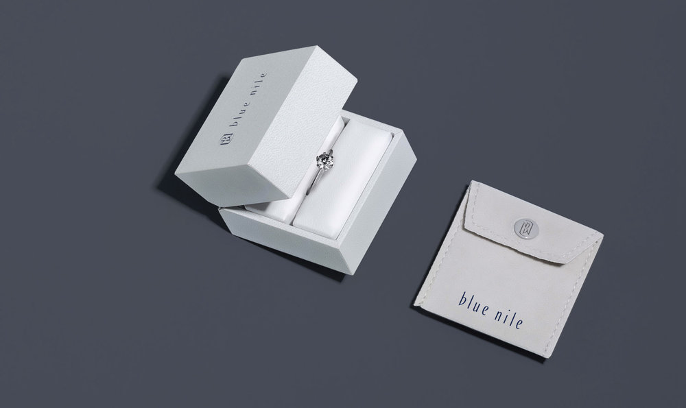 Blue Nile Ring Box and Pouch Designed by Creative Retail Packaging
