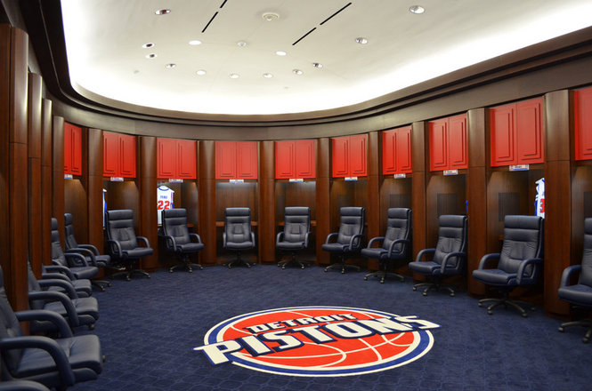 Palace of Auburn Hills Locker Room