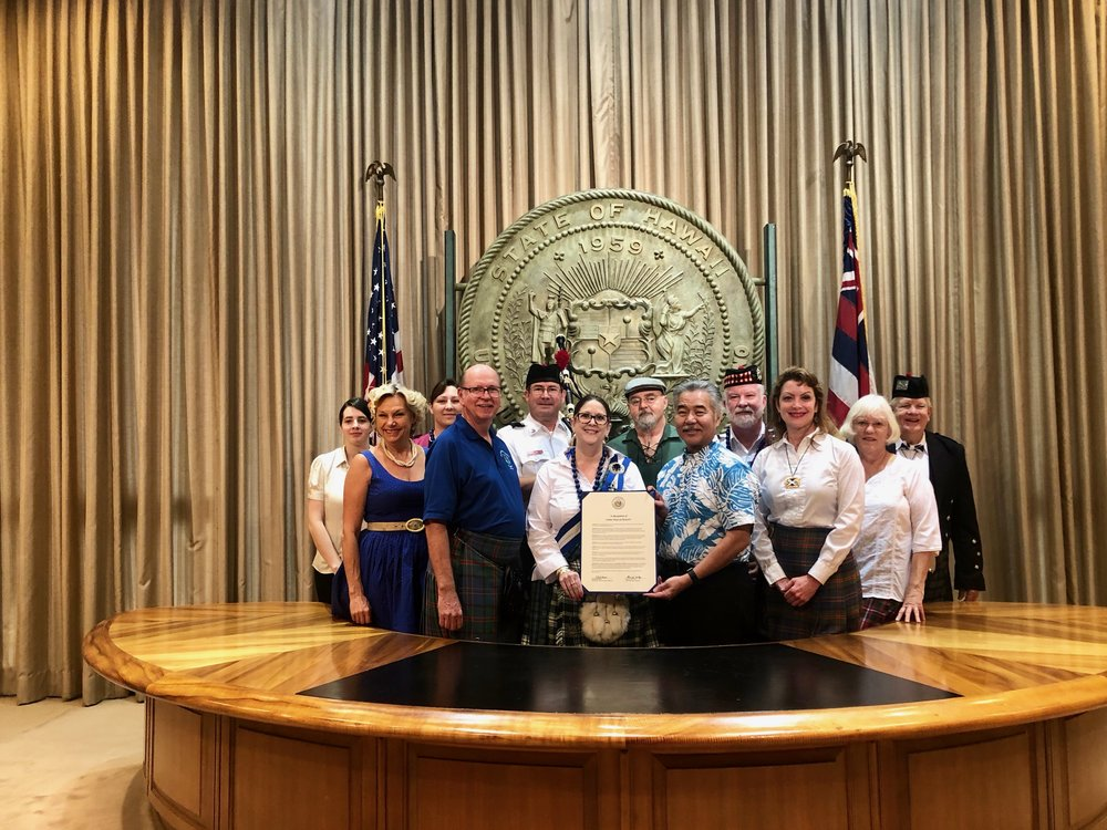 GOV - Ige, Celtic Days in Hawaii