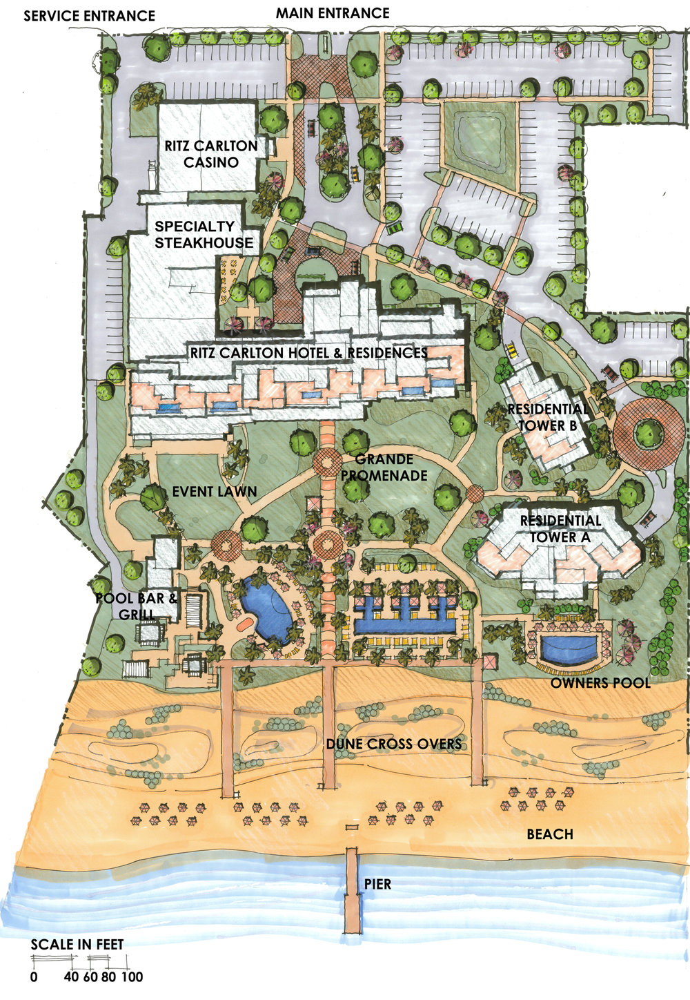 site plan The residences Turks and Caicos