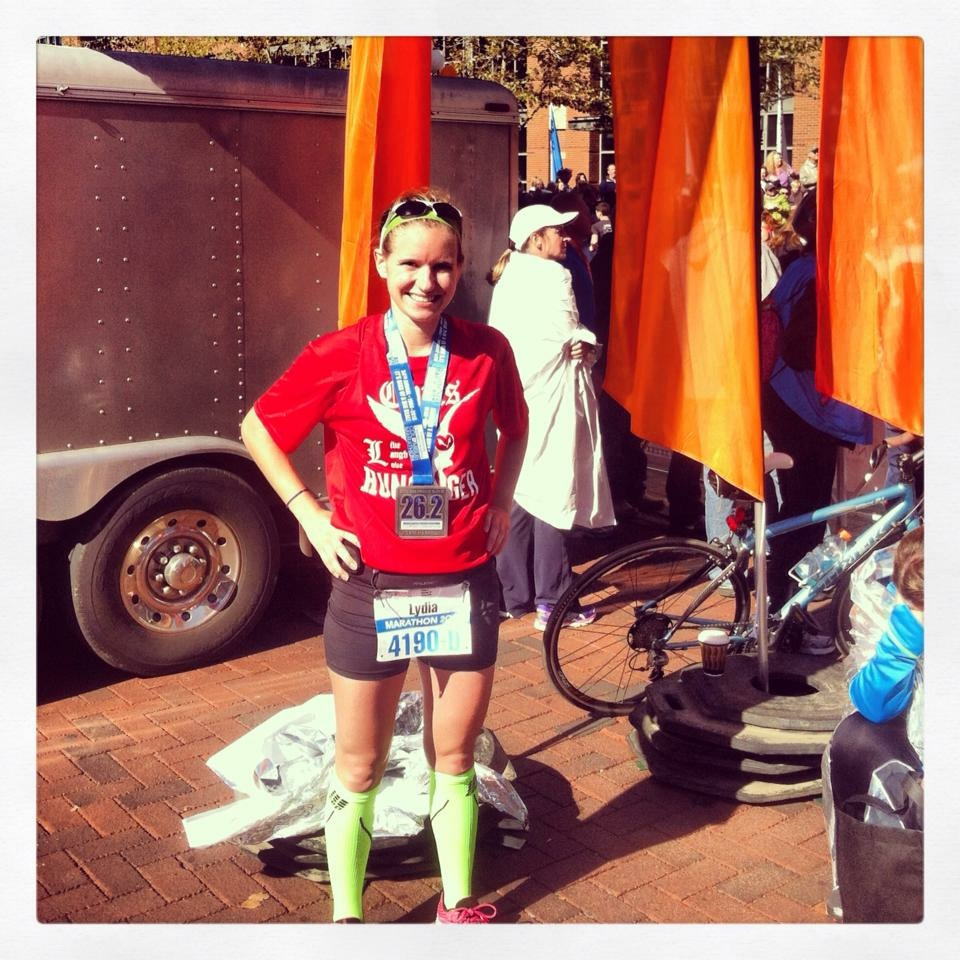 2013 when I finished my first marathon!