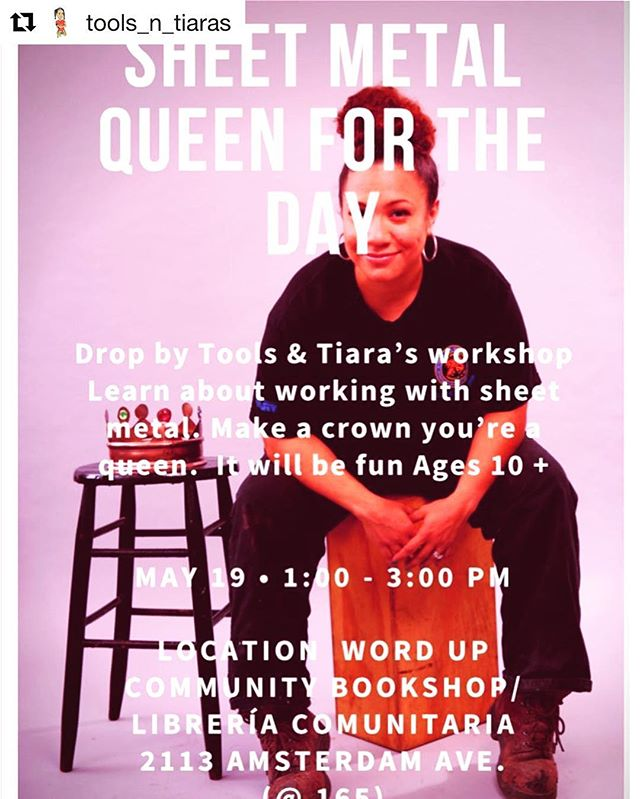 May 19th! Bring your little girl for a lesson in making HER OWN crown. Thanks to @tools_n_tiaras for orchestrating!