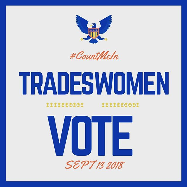 #NYprimaries2018 Make sure to vote for the candidates that look out for working women and their families. 👷🏿♀️👷🏽♀️👷🏼♀️