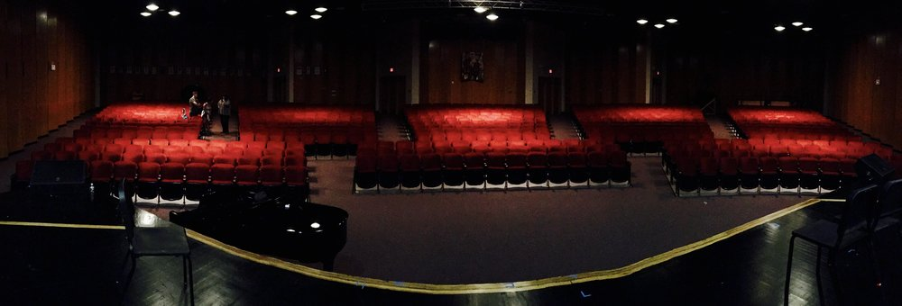The beautiful Roslyn High School Theater.