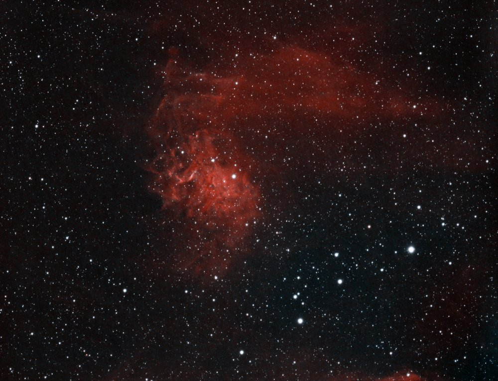 IC405 - The Flaming Star nebula taken with the AT60ED