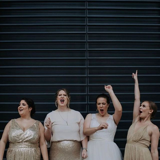 How you and your girls will feel after scoring major sales at the January 26 wedding flea market.  Just a few VIP shopping tickets are left! 📸@dani_nicole_photography