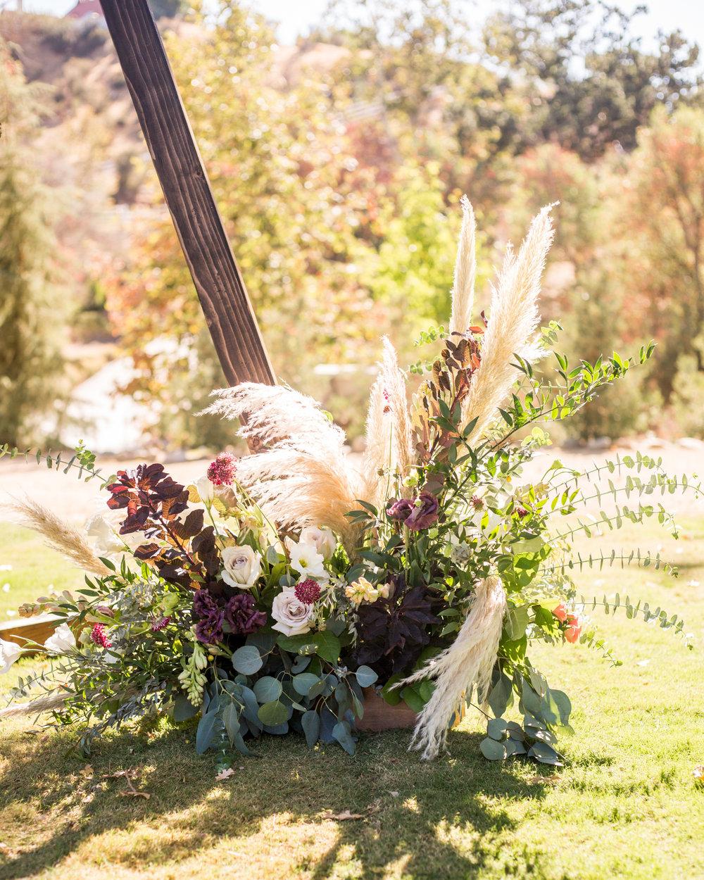 Moody Pampas Grass floral arangement