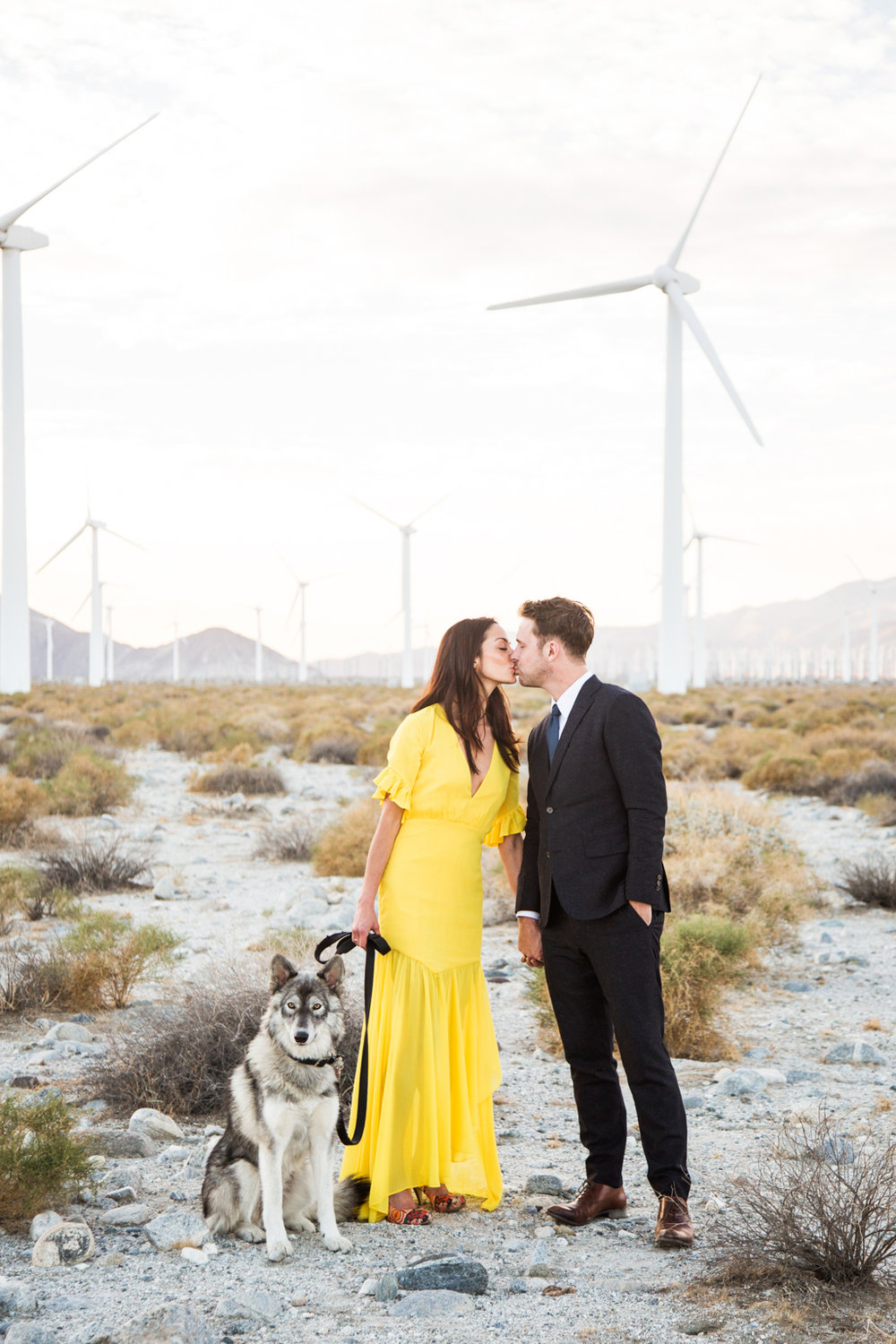 Engagement shoot at Palm Springs windmills