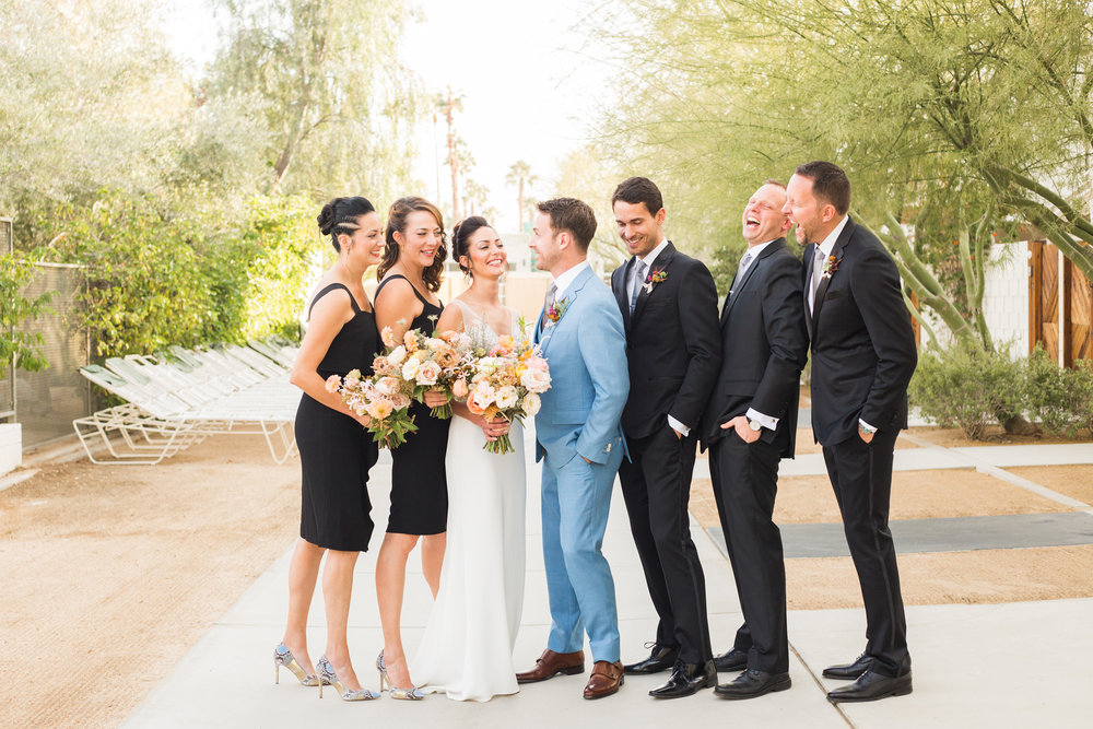 Bridal party Ace Hotel Palm Springs