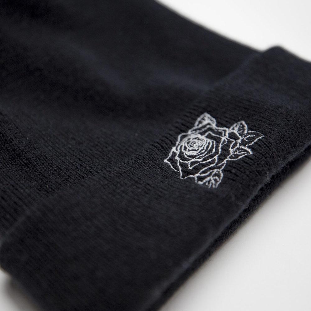 - Rose Beanie - Black - $20
