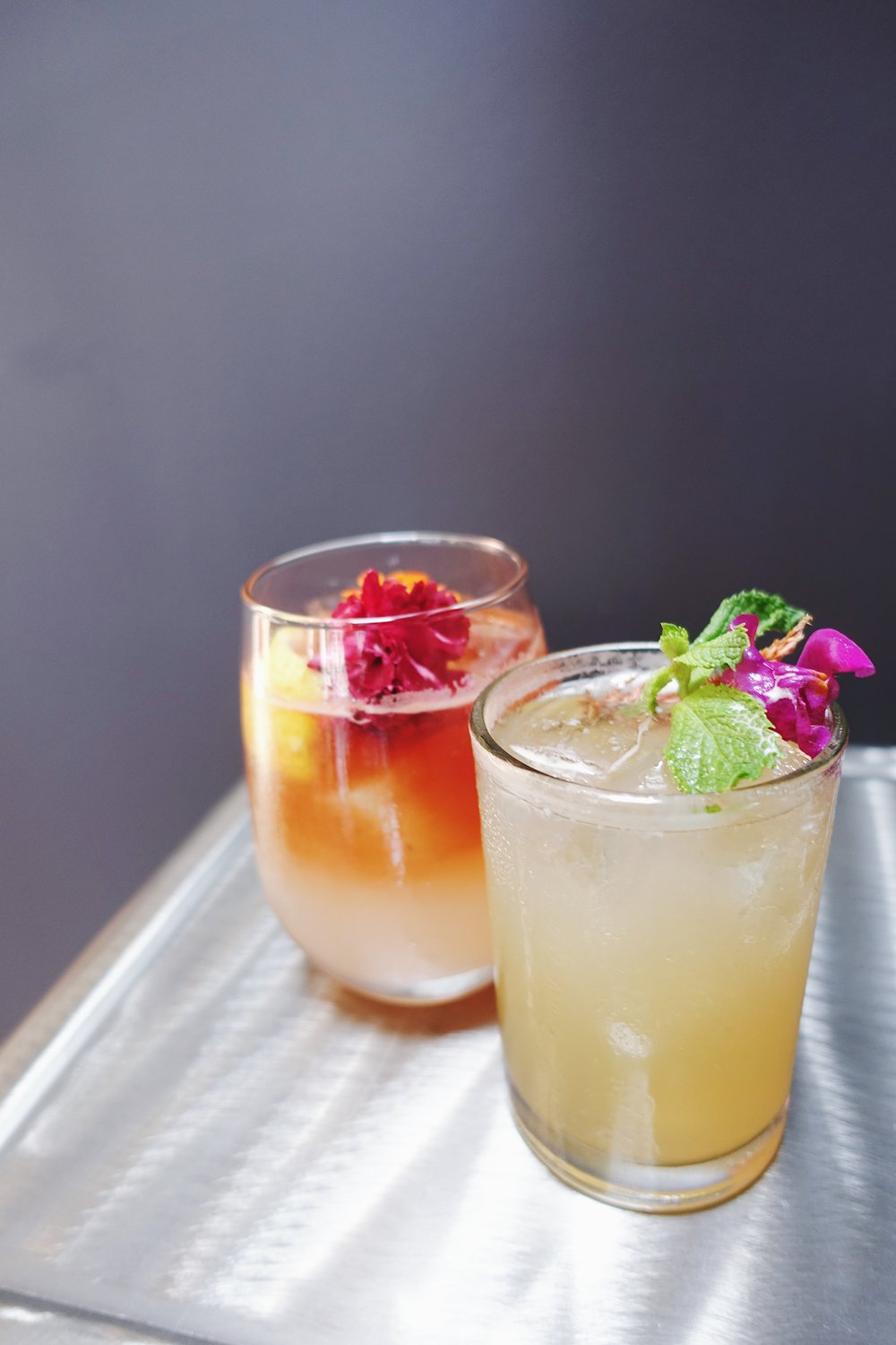 handcrafted cocktails -