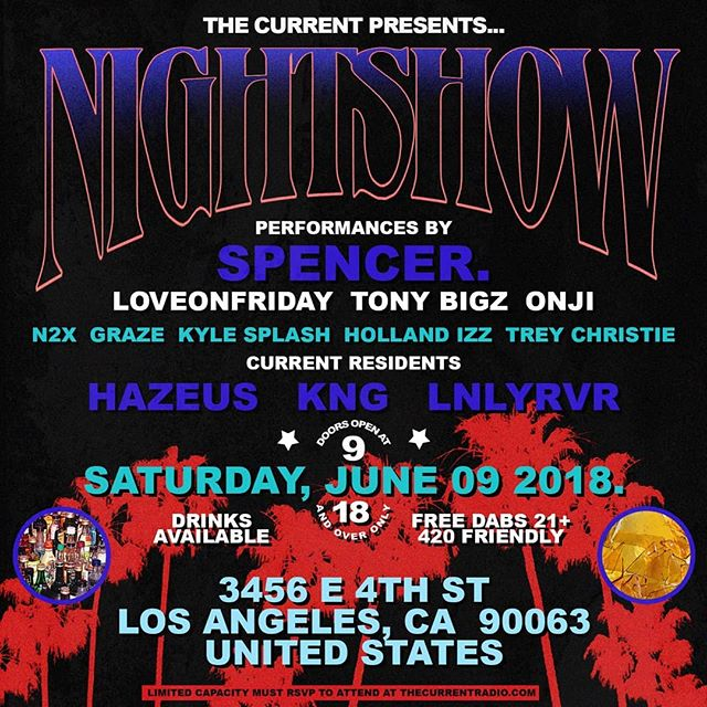 Proud to be playing at The Current's NIGHTSHOW this Saturday. RSVP at thecurrentradio.com. looks like it's going to be packed out!