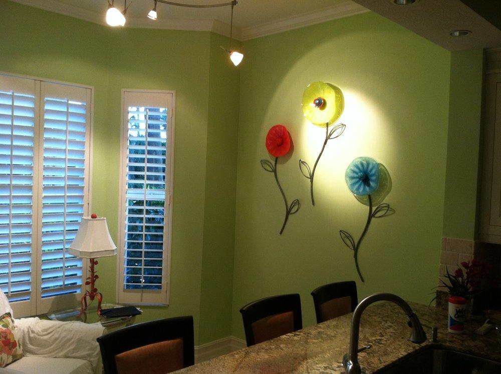 glass wall flowers