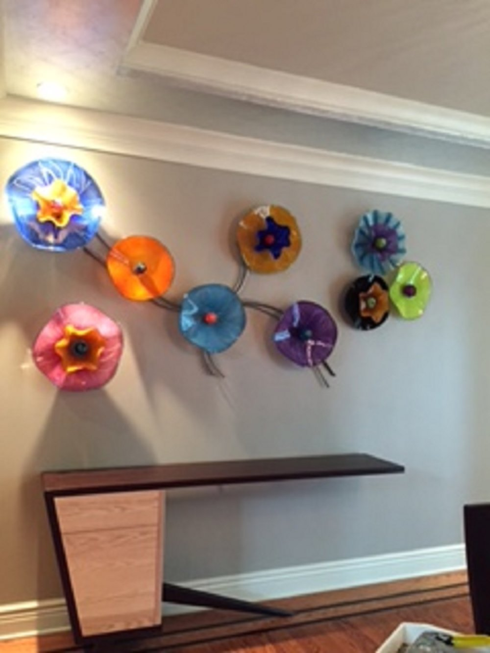 Copy of abstract glass wall sculpture