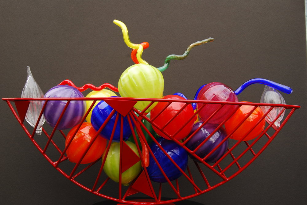 colorful glass sculpture