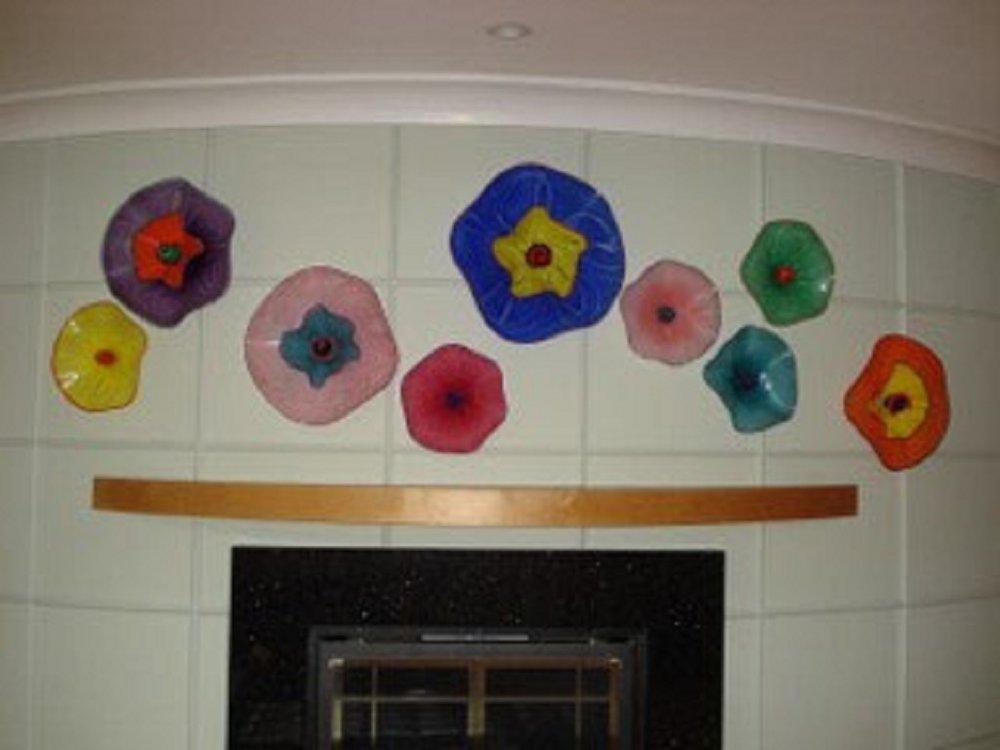 healing art glass wall sculpture