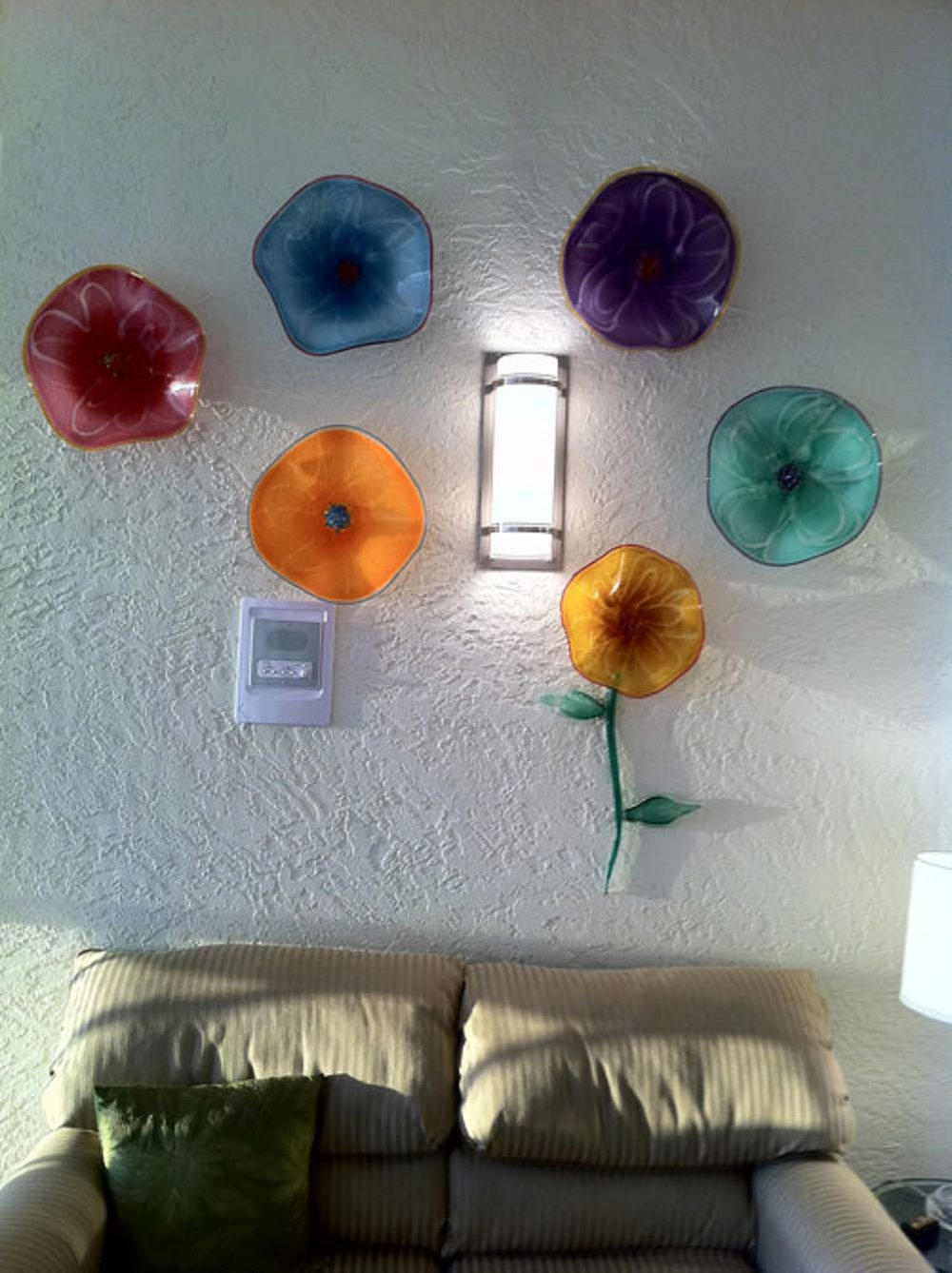 Copy of healing art glass wall flowers