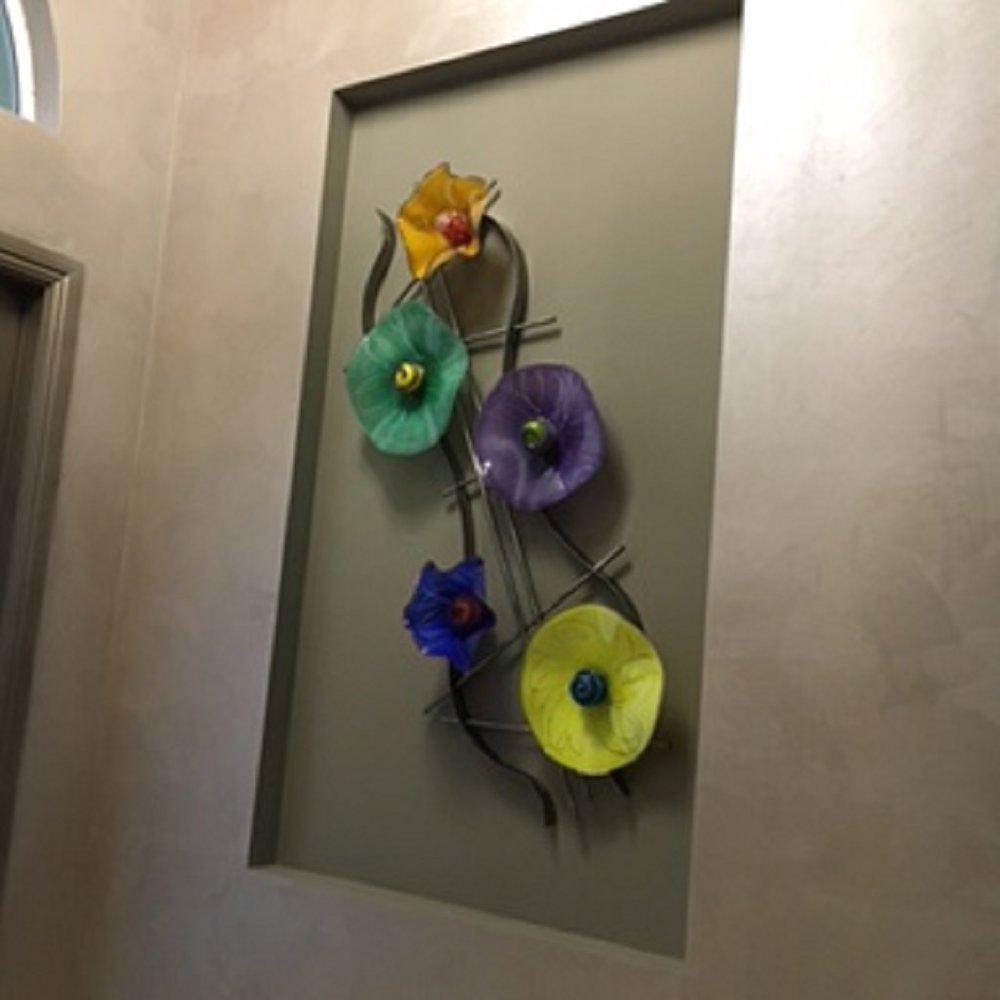 healing art glass sculpture