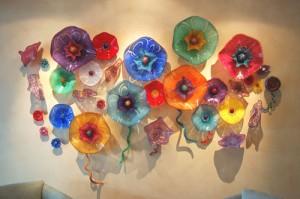 colorful glass wall art