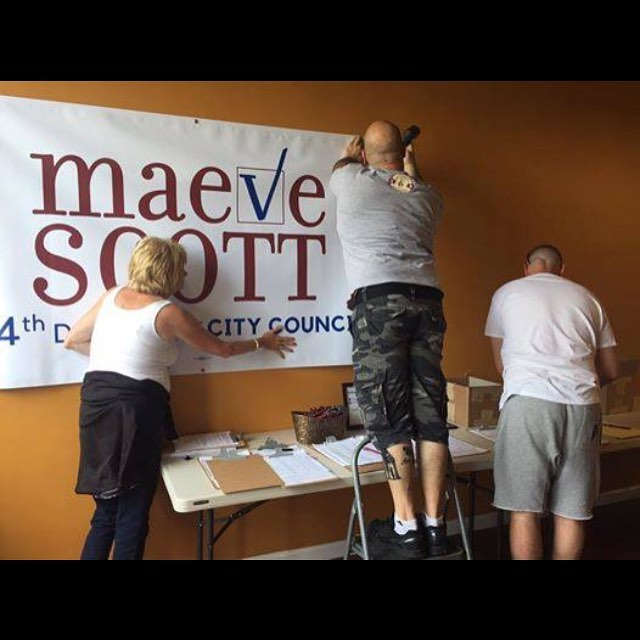 Thanks to our wonderful volunteers, our headquarters is up and running! If you would like to fill a volunteer position, send us a message! #maeve4the4th #yonkersny #yonkers #district4 #democraticparty #democrat #citycouncil #vote