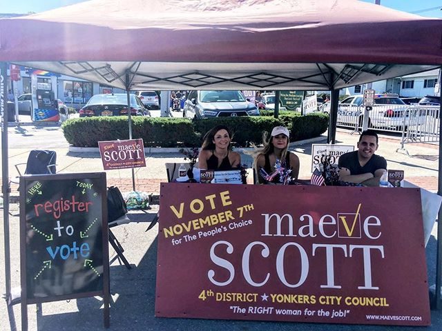Stop by our booth today at the McLean Fall Festival ! You can register to vote and sign up for our iPad giveaway! #maeve4the4th #mcleanave #yonkersny #yonkers #democrats #citycouncil #vote