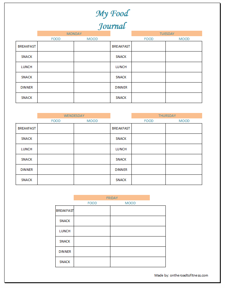 My Food Journal - Tracking what I ate made a huge difference