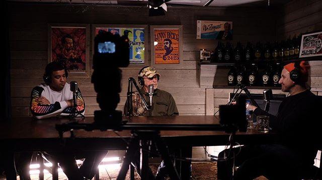 In studio with a Vietnam veteran.  #LightsCameraAction #Podcast #WarStories #FullMetalJacket