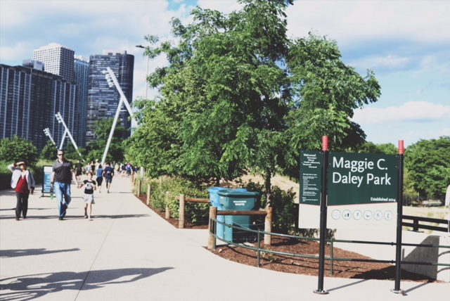 Maggie C Daley Park - The entrance to the park