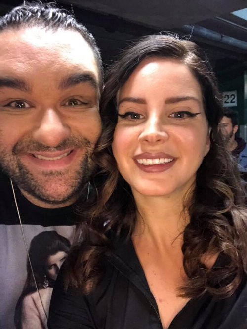 Adem meeting Lana Del Rey in Melbourne, March 2018.