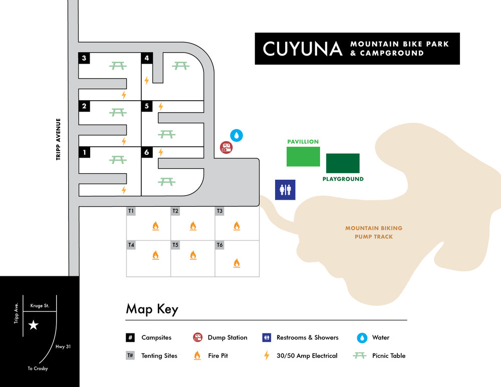 Download a map of the Cuyuna Mountain Bike Park & Campground