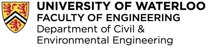 University of Waterloo Department of Civil & Environmental Engineering