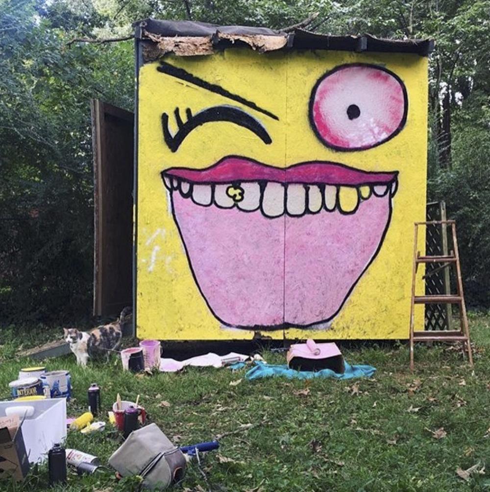 Paint Memphis Emkat Design Mural