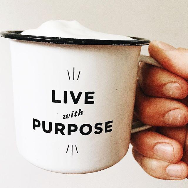 ☕️ and reminder. Great way to start a Sunday morning. #livewithpurpose #sundayfunday #thisisboise