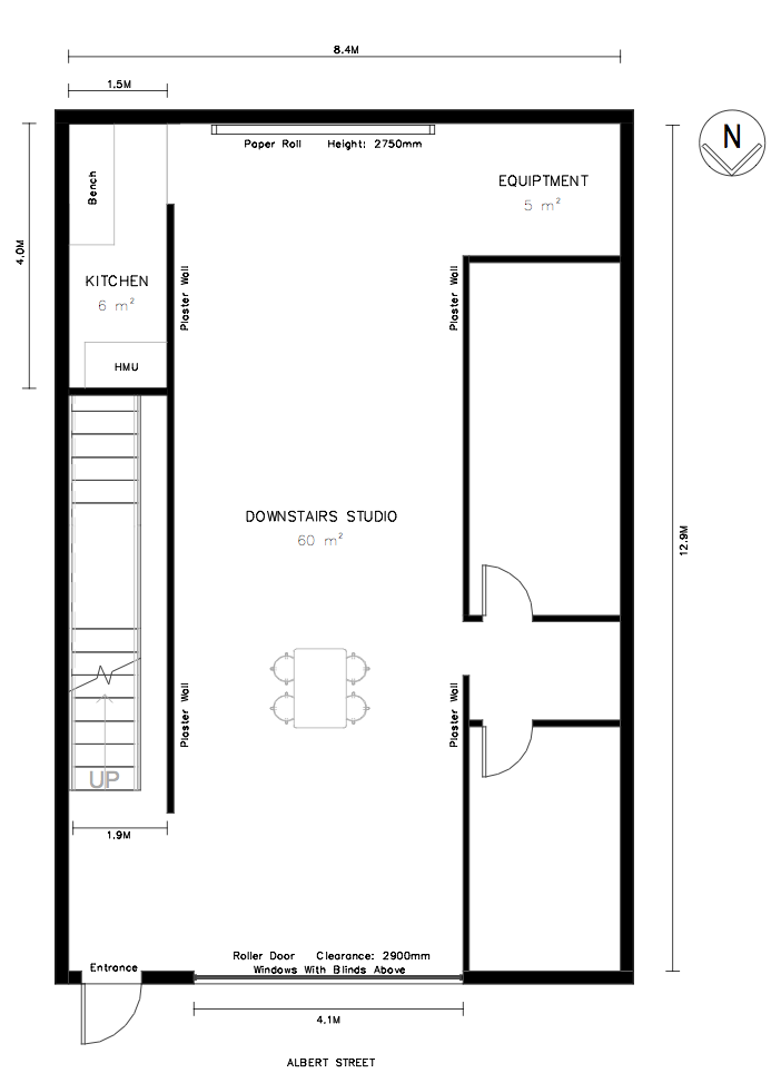 Floor plan photography studio Northcote