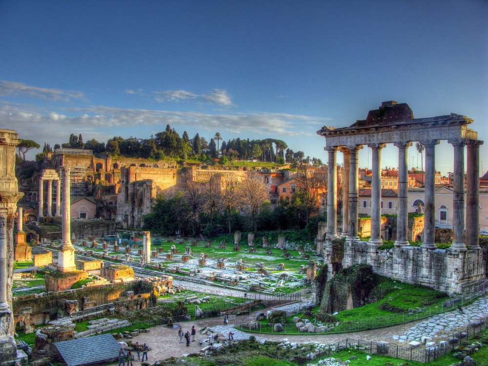 Palatine Hill, where the Romans built a temple to the goddess Febris
