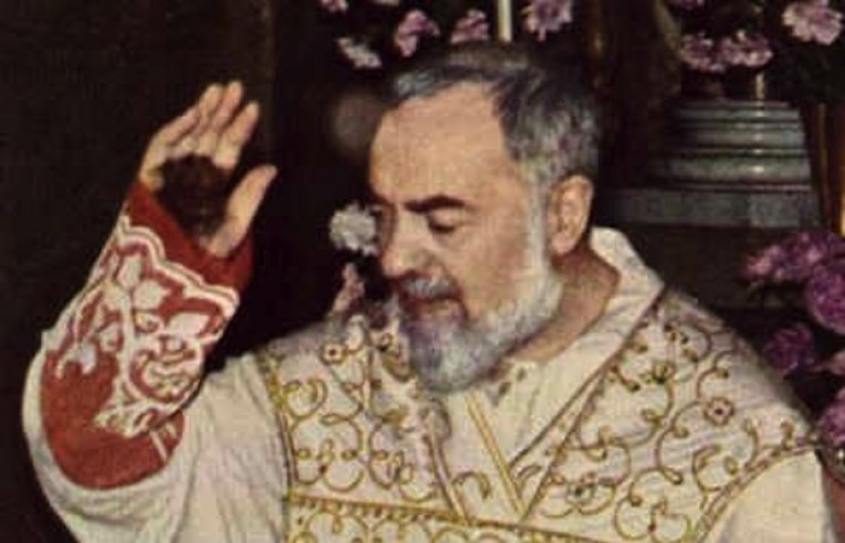 Padre Pio with stigmata