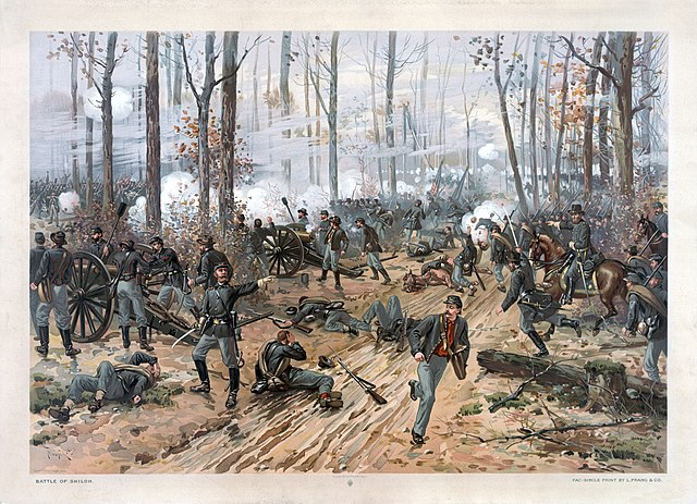 Battle of Shiloh. Thurs de Thulstrup