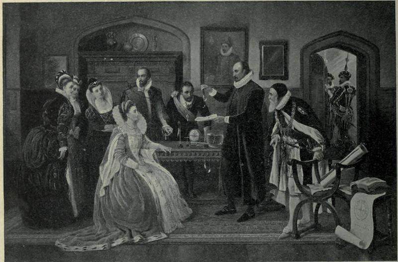 Gilbert demonstrating magnetism to Queen Elizabeth