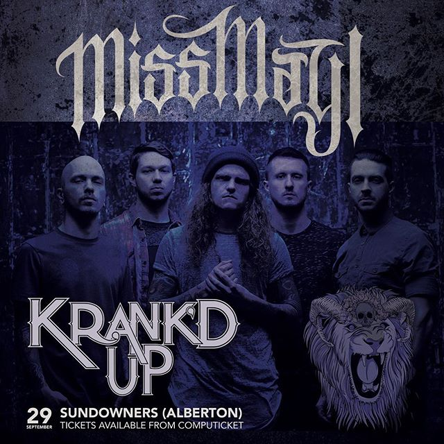 We are stoked to announce that we are finally playing Africa!  September 29th Krank'd Up Music Festival  Johannesburg, South Africa - ticket link on our website