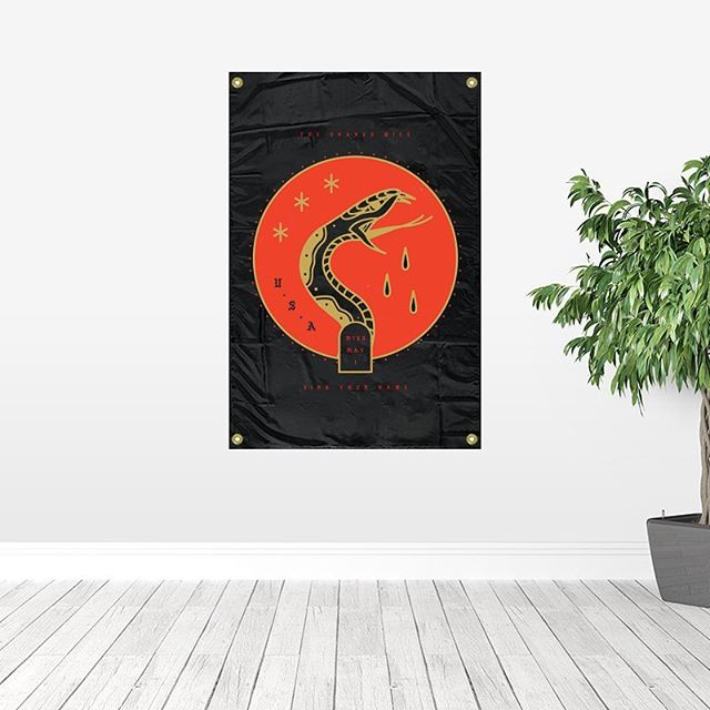 The Snakes Will Sing Your Name - 3x5 Foot Wall Flag available this weekend only! Lmtd.co/missmayi