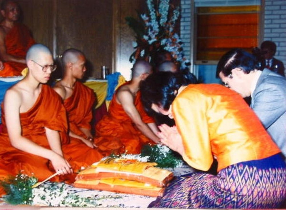 Ordained as a Thai Buddhist monk when I was 17 years old. I'm on the far left.